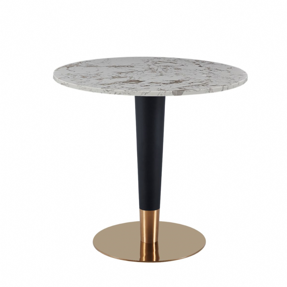 Luxury round Dining table with black&gold leg -60cm